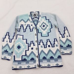 Storybook Knits Sweater S Cardigan Tribal Southwes